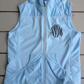 Embroidered Monogrammed Ladies Light Weight Vest