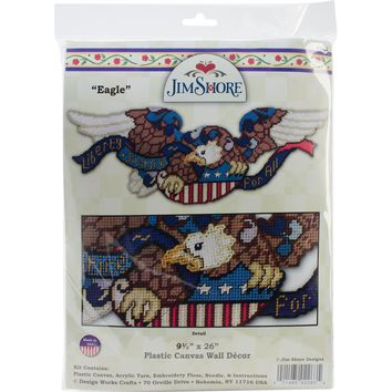 "Liberty & Justice Eagle (7 Count) Design Works Plastic Canvas Door Topper Kit 9""X24"""