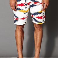 Southwestern Print Fleece Shorts