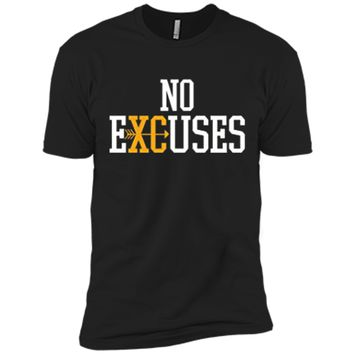 No Excuses Cross Country Track And Field Running T-Shirt Next Level Premium Short Sleeve Tee