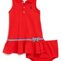 Infant Girl's Ralph Lauren Sleeveless Polo Dress & Bloomers,