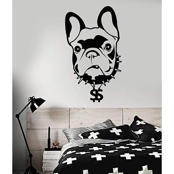 Vinyl Wall Decal Pet Home Animal Dog French Bulldog Stickers (3023ig)