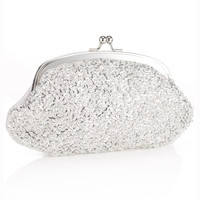 All Over Sparkle Clutch | Silver | Accessorize