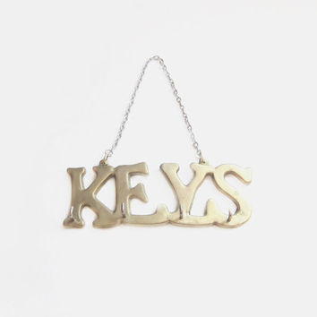 Brass Key Holder, Hook Wall Hanging