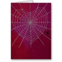 Spiderweb Heart Valentine's Day Greeting Card