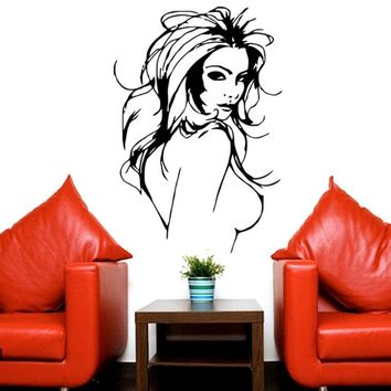 Hot Sale 2017 Wall Stickers  Sexy Girl  Wall Mural Vinyl Decal Wall \