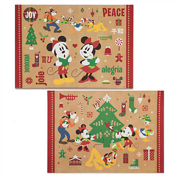 Mickey Mouse and Friends Paper Placemat Set - Holiday | Disney Store