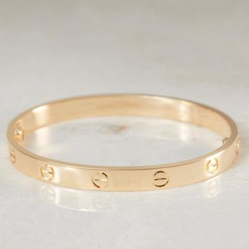 One-nice? CARTIER LOVE BRACELET 18K YELLOW GOLD LOVE BANGLE SIZE RRP ?5600 Box & Paper