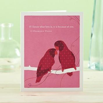If I Know What Love Is, A Positively Green Love and Valentine's Day Card