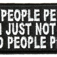 "Embroidered Iron On Patch - I'm A People Person 4"" Patch"