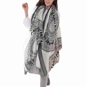 2017 New Women Fashion Sika Deer Scarf Winter aututmn From India Brand poncho Scarves Wrap Shawl Natural And Fresh Four Seasons