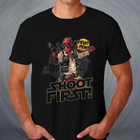 Deadpool as Han Solo in an Awesome Star Wars T-shirt
