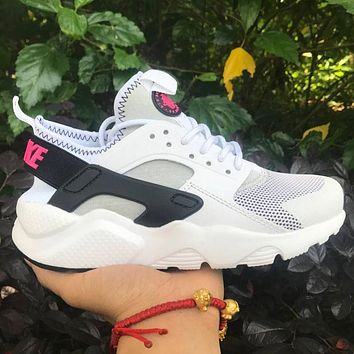 Best Online Sale Nike Air Huarache 4 Rainbow Ultra Breathe Men Women Hurache White/Bla