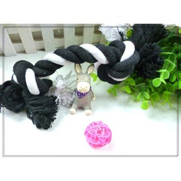 Dog Puppy Pet Chew Cotton Knot Toy Braided Bone Rope 15CM Small Medium Dog