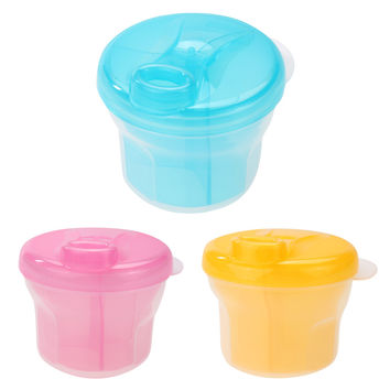 1PC Portable Milk Powder Box PP Formula Dispenser Food Container Storage Feeding Box for Baby Toddler Blue Pink Yellow