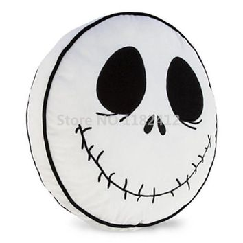 Nightmare Before Christmas Jack Skellington Plush Pillow Double Sided Cushions Car Decoration Kids Toys Gifts 35*35CM