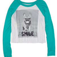 Smiley Dog Long-Sleeve Tee