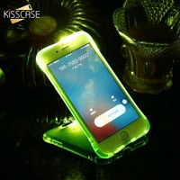 KISSCASE LED Flash Light Case For iPhone 7 5s 6 8 5 SE Cool Glowing Soft Shockproof Silicone Cases For iPhone 8 7 6s 6 Plus Capa