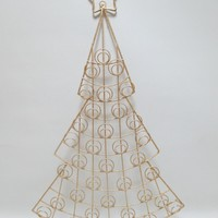 66cm Gold Tree Christmas Card Holder - Holds 34 Cards - Christmas Decoration