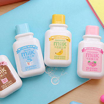 Kawaii Milk Bottle Correction Tape