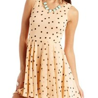 Polka Dot Chiffon A-Line Dress: Charlotte Russe