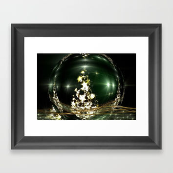 Marry Christmas II Framed Art Print by Karl-Heinz Lüpke