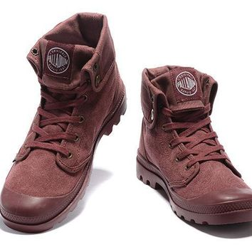 Palladium Baggy Lll Men Turn High Boots Purple Red - Beauty Ticks