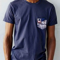 Space Mission Pocket Tee- Navy
