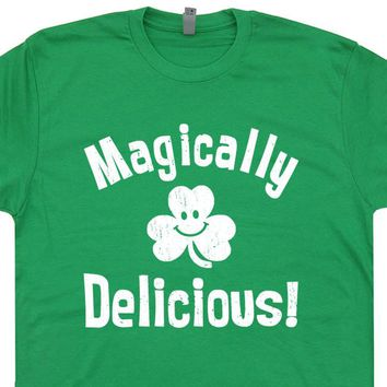 Magically Delicious T Shirt Funny Irish Saying T Shirt Lucky Charms 80s Cereal Tee