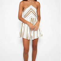 Halter Neck Stripe Dress