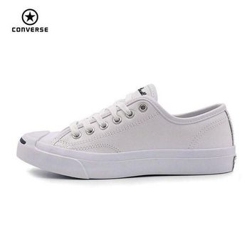 ESBONB Converse Original new Smile style JACK PURCELL shoes man and women Unisex PU Leather S