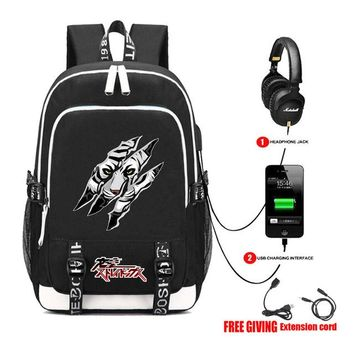 Anime Backpack School kawaii cute Bungou Stray Dogs Backpack USB Charge College Student School Book Bags Rucksack teenagers Travel Daypack Mochila 4 style AT_60_4
