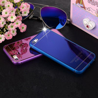 New ! With Logo Metal Bumper+Front&Back Mirror Effect Tempered Glass Film Phone Case For iPhone 5 5s 6 6s 6Plus 6sPlus Cover