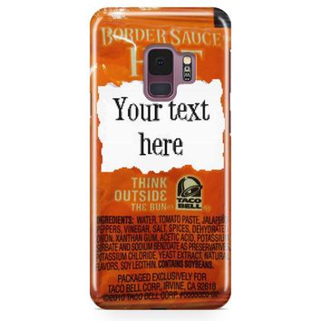 Taco Bell, Your Text Here Samsung Galaxy S9 Case | Casefantasy