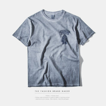 """""""Special Forces Airborne"""" Letter and Logo Print T-Shirt"""