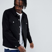 Weekday Single Jacket Rinsed Black at asos.com