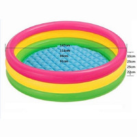 Fluorescent Trinuclear Inflatable Pool Baby Swimming Pool Piscina  Portable Outdoor Children Basin Bathtub Infant 4 Size
