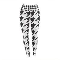 "Empire Ruhl ""Spacey Houndstooth"" Yoga Leggings"