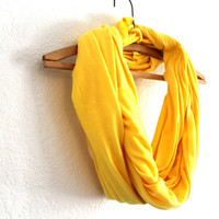 Bright Yellow Infinity Scarf - Free Shipping- Neon Yellow Scarf- Loop Scarf Infinity - Mothers Day gift