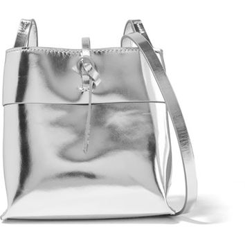 Kara - Nano Tie mirrored-leather shoulder bag