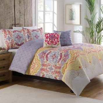 Meghan Boho Reversible 5PC Comforter SET