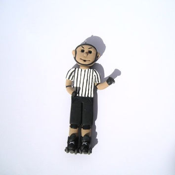 Roller Derby Referee Ornament