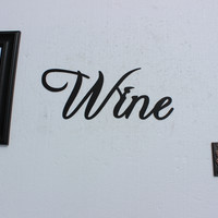 Wine Word Medium Size Metal Wall Art Kitchen Home Decor