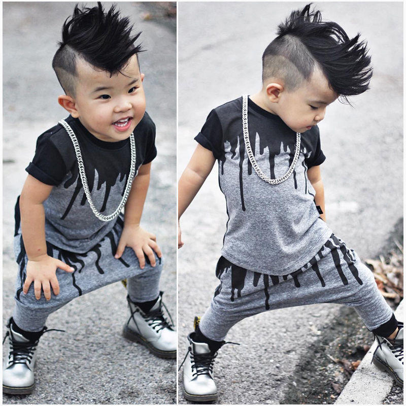 09c7504dadfb 2pcs Newborn Toddler Infant Kids Baby Boy Clothes T-shirt Tops Short Sleeve  + Pants Lo