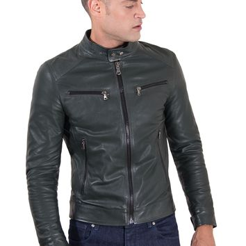 Green Handmade Leather Jacket