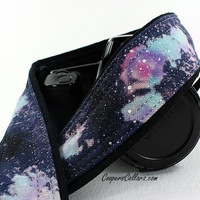 319 Galaxy Camera Strap, OOAK Hand painted, One of a Kind, dSLR or SLR, Cosmos, Nebula, OOAK