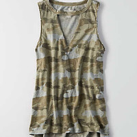 AEO Cutout Jegging Tank , Olive