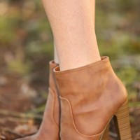 Hit 'Em Up Style Booties-Cognac