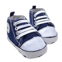 Newborn Baby First Walker Shoes Canvas Star Designs Solid Soft sole Casual Toddle Baby Shoes 0-2T
