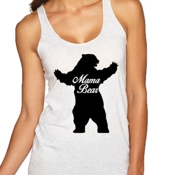 Women's Tank Top Mama Bear Family Top Mother Holiday Gift